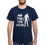 Aim For The Head Zombie Dark T-Shirt
