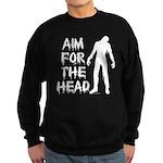 Aim For The Head Zombie Sweatshirt (dark)