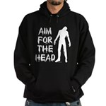 Aim For The Head Zombie Hoodie (dark)