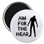 Aim For The Head Zombie Magnet
