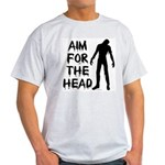 Aim For The Head Zombie Light T-Shirt