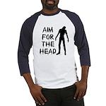 Aim For The Head Zombie Baseball Jersey