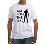 Aim For The Head Zombie Fitted T-Shirt