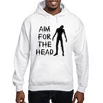 Aim For The Head Zombie Hooded Sweatshirt