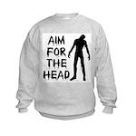 Aim For The Head Zombie Kids Sweatshirt