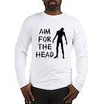 Aim For The Head Zombie Long Sleeve T-Shirt