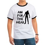 Aim For The Head Zombie Ringer T