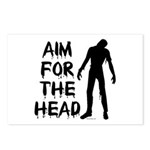 Aim For The Head Zombie Postcards (Package of 8)