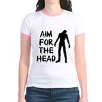 Aim For The Head Zombie Jr. Ringer T-Shirt