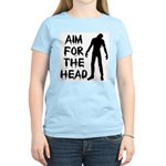 Aim For The Head Zombie Women's Light T-Shirt