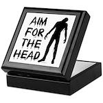 Aim For The Head Zombie Keepsake Box