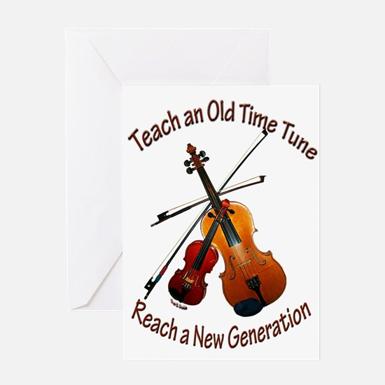 Teach Old Time Greeting Card