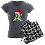 Christmas Owl Hoo Hoo Hoo Women's Charcoal Pajamas