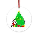 Christmas Scene Ornament (Round)