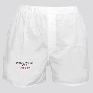 Proud Father Of A HERALD Boxer Shorts