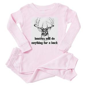 8411ae9dd9 Funny Deer Hunting Baby Pajamas - CafePress