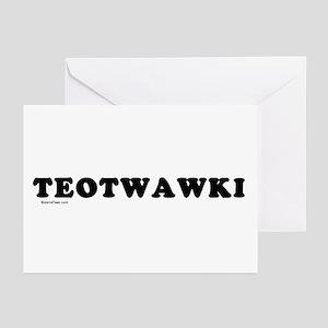 TEOTWAWKI Greeting Cards (Pk of 10)