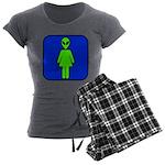 Alien Woman Women's Charcoal Pajamas