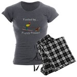 Fueled by Puppy Power Women's Charcoal Pajamas