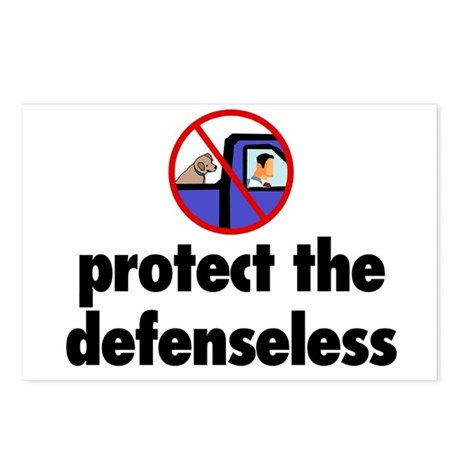 Protect the defenseless. Postcards (Package of 8)