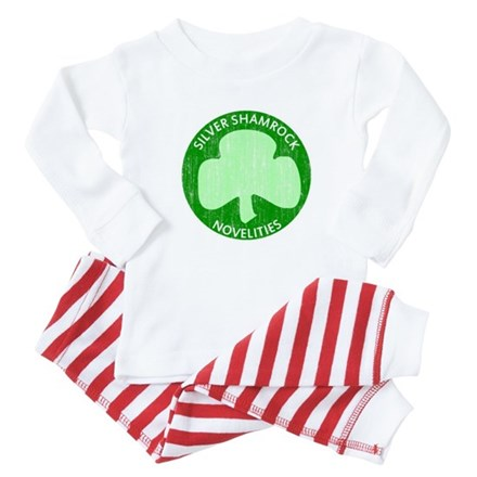 Silver Shamrock Baby Pajamas