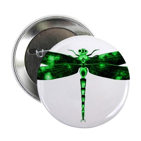 """Green Dragonfly 2.25"""" Button (100 pack)"""