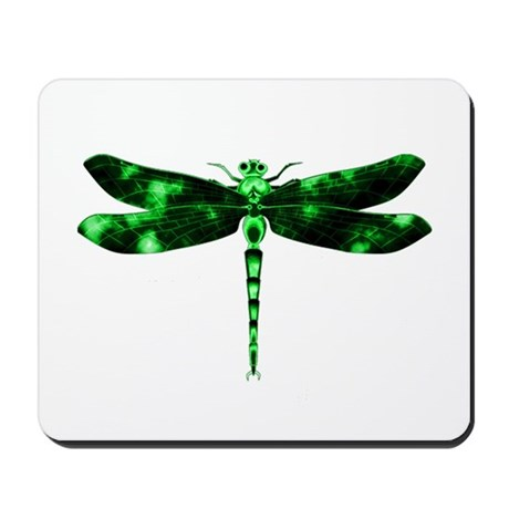 Green Dragonfly Mousepad