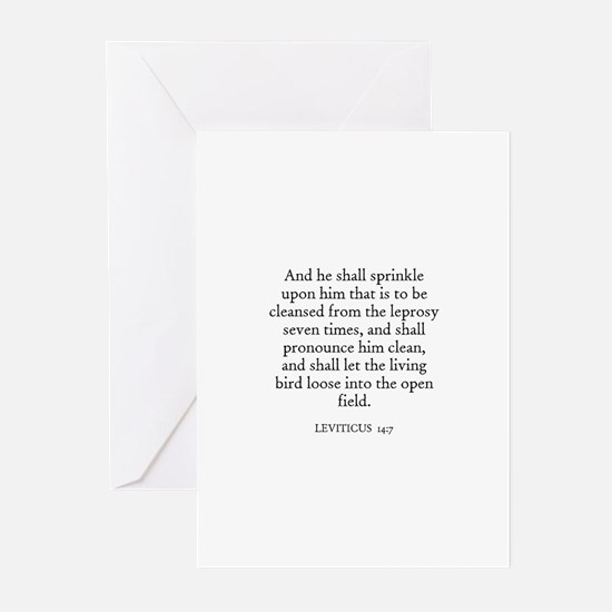 LEVITICUS  14:7 Greeting Cards (Pk of 10)