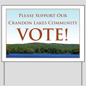 Crandon Community Election Yard Sign