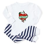 Mommy in Heart Baby Pajamas