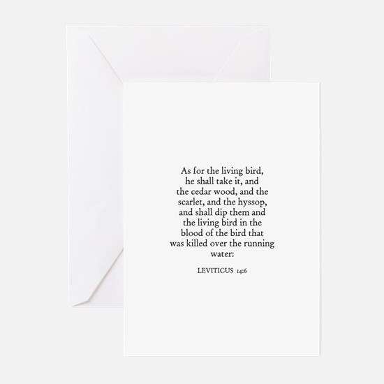 LEVITICUS  14:6 Greeting Cards (Pk of 10)