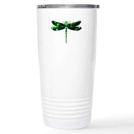 Green Dragonfly Stainless Steel Travel Mug