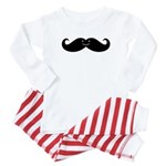 Kissing Whales Or Mustache? Baby Pajamas
