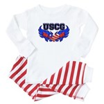 USCG Heart Flag Baby Pajamas