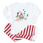 Scuba Diving Santa Baby Pajamas