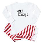 ricky for white shirt psd copy Baby Pajamas
