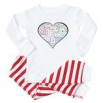 Heart Love in different langu Baby Pajamas