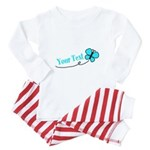 Personalizable Teal and Black Butterfly Baby Pajam