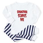 Grandma scares me Baby Pajamas