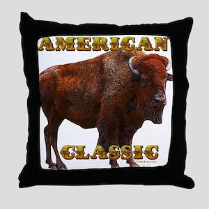 Buffalo by cFractal Tees Throw Pillow