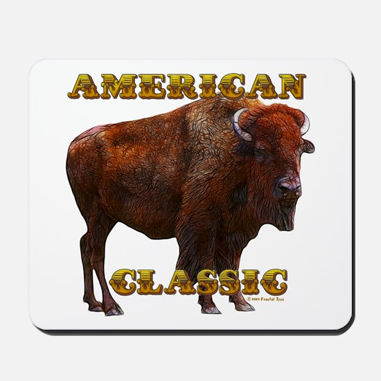 Buffalo by cFractal Tees Mousepad