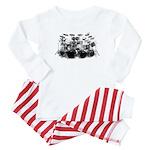 Drum Sketch Baby Pajamas