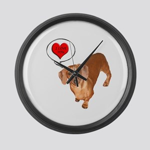 Love You Large Wall Clock