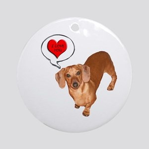 Love You Ornament (Round)
