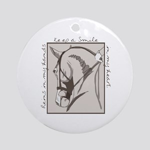 Horse Head Ornament (Round)