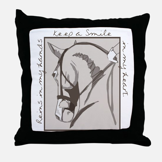 Horse Head Throw Pillow