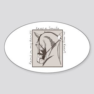 Horse Head Oval Sticker