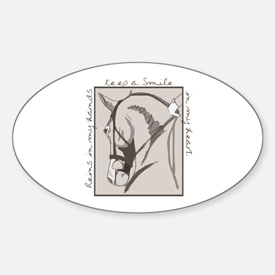 Horse Head Oval Decal