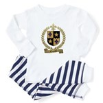 COMEAU Family Crest Baby Pajamas