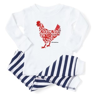 fa9025f3d2e Chicken Baby Pajamas - CafePress
